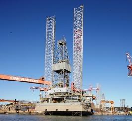 烟台中集来福士公司承建的自升式钻井平台